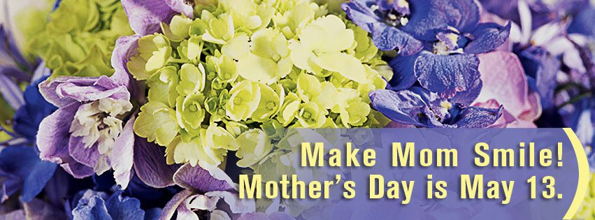 Mother's Day is Sunday, May 13th! Celebrate her day with a bouquet of fresh spring flowers!