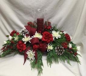 Classic Christmas Centerpiece from Chillicothe Floral, local florist in Chillicothe, OH