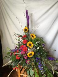 Contemporary Casket Spray from Chillicothe Floral, local florist in Chillicothe, OH
