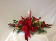 Holiday Hurricane Centerpiece from Chillicothe Floral, local florist in Chillicothe, OH