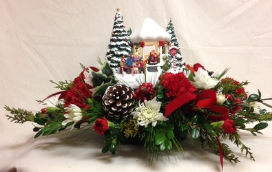 Kinkade's 2016 Jolly Santa Bouquet by Chillicothe Floral