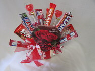 Valentine Candy Bokay from Chillicothe Floral, local florist in Chillicothe, OH