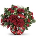 Teleflora's Deck The Holly Ornament Bouquet from Chillicothe Floral, local florist in Chillicothe, OH