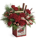 Teleflora's Merry Vintage Christmas Bouquet from Chillicothe Floral, local florist in Chillicothe, OH