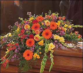 Sentiments Mixed Casket Spray from Chillicothe Floral, local florist in Chillicothe, OH