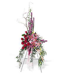 Contemporary Standing Spray from Chillicothe Floral, local florist in Chillicothe, OH